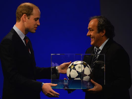 Prince William and soccer ball