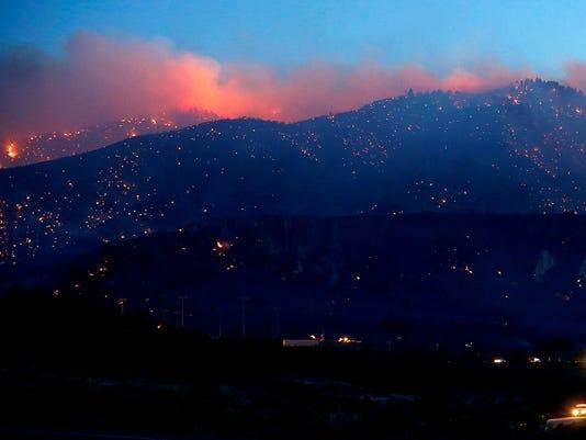 california wildfire los padres