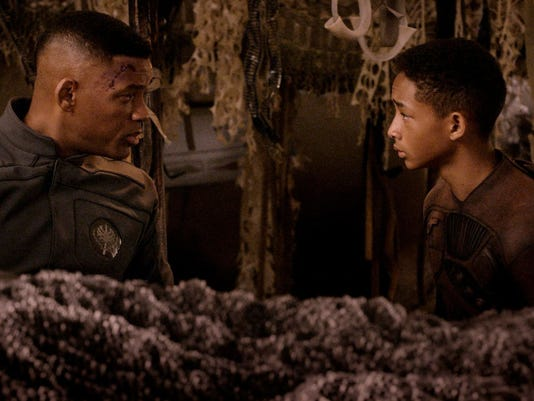 "Will Smith and Jaden Smith in a scene from the motion picture ""After Earth"""