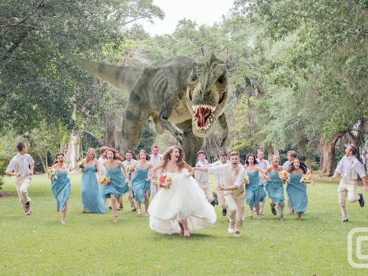 jurassic wedding photo