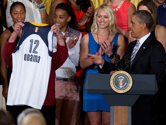 061413 Obama and Indiana Fever