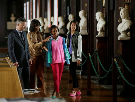 Michelle Obama and daughters in Ireland