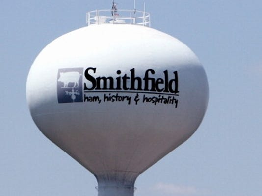 smithfield water tower