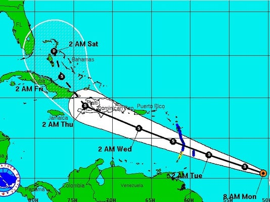 tropical-storm-chantal-map
