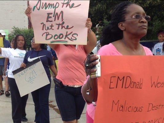 books tossed