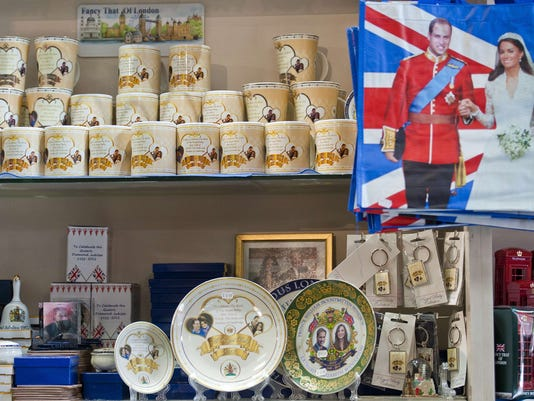Royal baby souvenirs