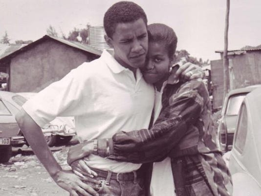 Barack and Michelle Obama 1992