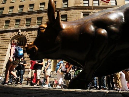bull statue getty