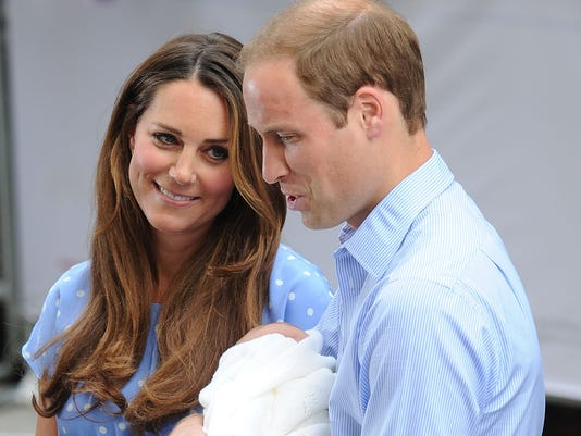 Will and Kate and baby