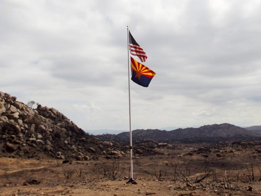 yarnell fire flags