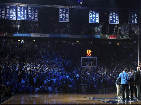 Defending Champion Kentucky Revels In 'Big Blue Madness