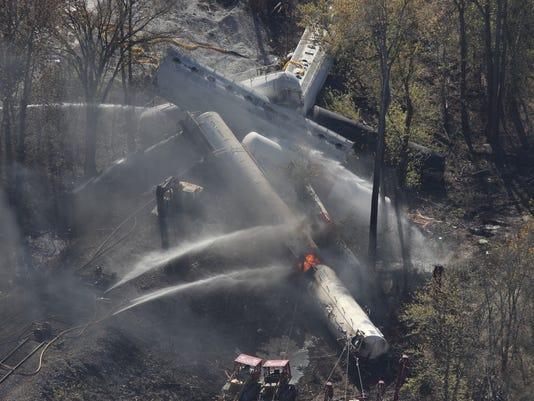 derailed train kentucky