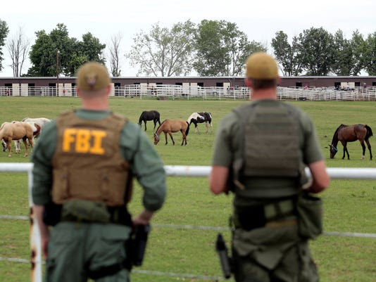 FBI agents on horse ranch