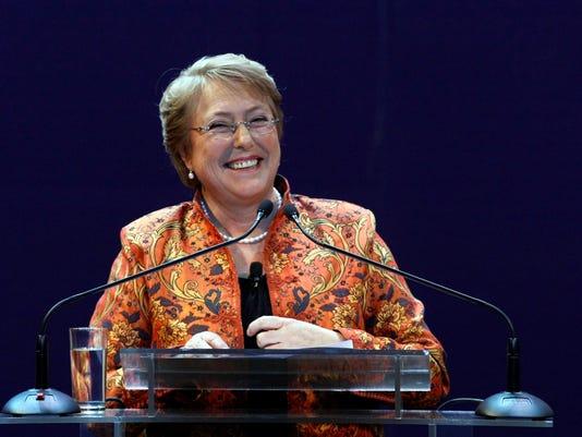 Chile's former President Michelle Bachelet