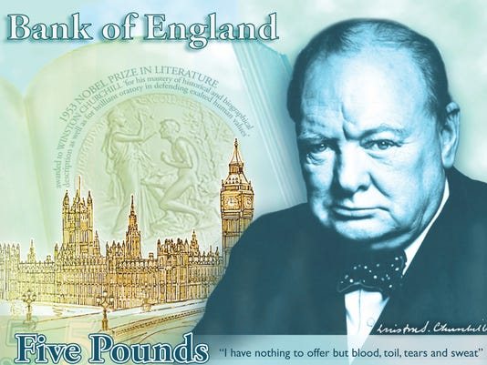 bank of england banknote churchill