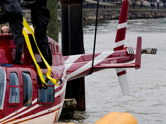 Helicopter makes emergency landing in river