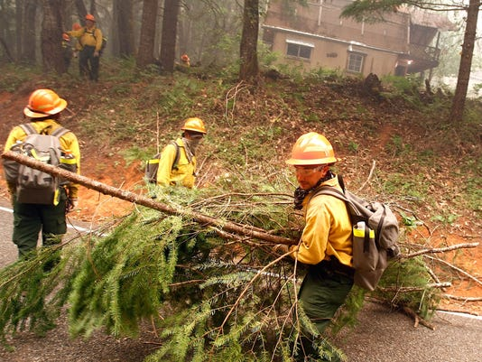 Firefighters in Oregon