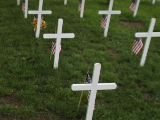 Crosses and flags