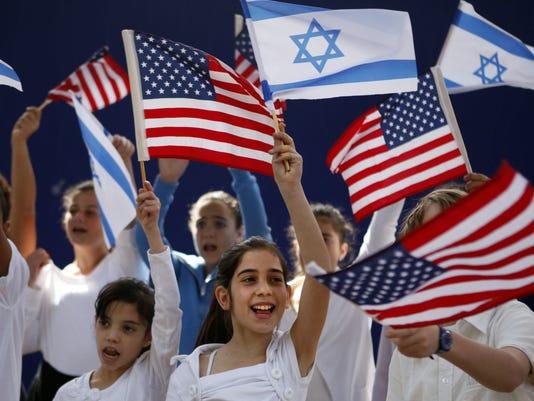 Israel flags waving.jpg