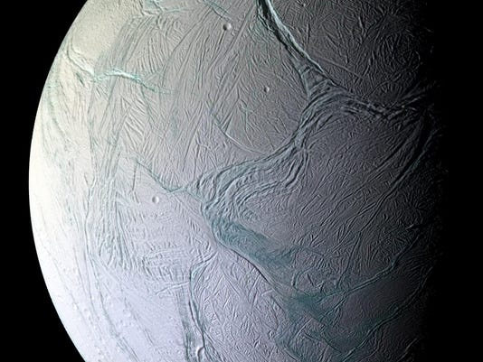 A view of Enceladus