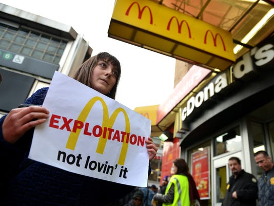 Fast Food Workers Stage Protests For Higher Wages