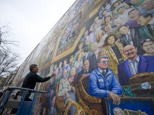 One year later penn state and the sandusky scandal for America today mural