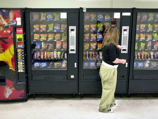 school vending machines Banning vending machines from schools can actually increase soda and fast food consumption among students if it's the only school food policy change implemented.