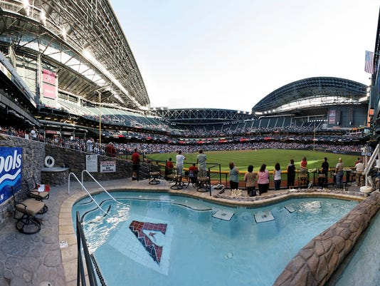 Pool Retractable Roof Define Chase Field