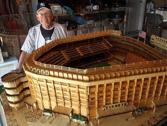 N J Man Builds Yankee Stadium Out Of Matchsticks