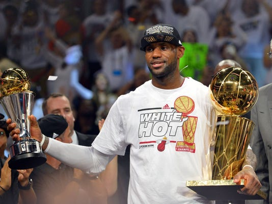 Miami Heat top San Antonio Spurs, repeat as NBA champions with NBA Finals Game 7 win