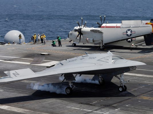 Big Drone Makes History By Landing On Carrier