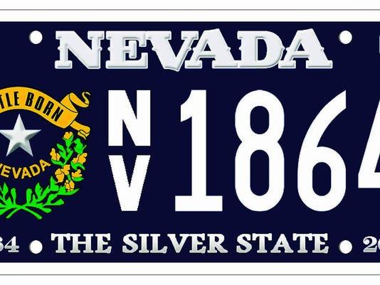 Nev statehood license plates made in oregon for Department of motor vehicles carson city nevada