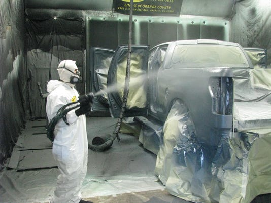 Rhino Liner Cost >> Pickup owners spray the whole truck with bedliner plastic