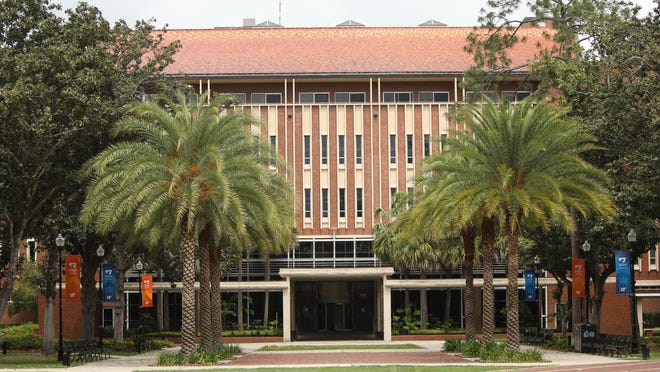 Library West at the University of Florida campus, which all but shut down completely due to COVID-19, in Gainesville, Fla. April 8, 2020.