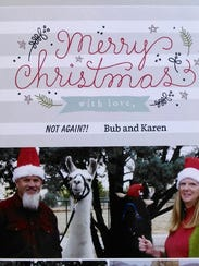 Bub Bullis and Karen Freund's Christmas card with their