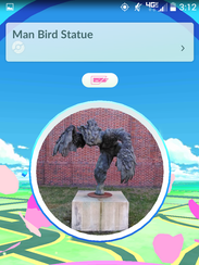 This statue at Salisbury University is a Pokestop in