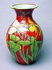 Ceramic pot by Gills Rock Stoneware, one of the locations taking part in this weekend's Ellison Bay Spring Art Crawl.