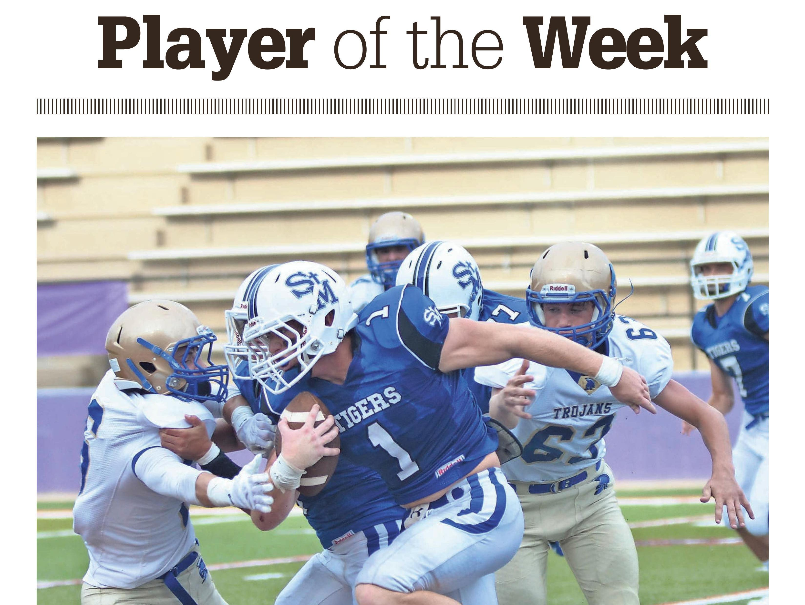 St. Mary's running back Josh Hickman is The Times' Player of the Week.