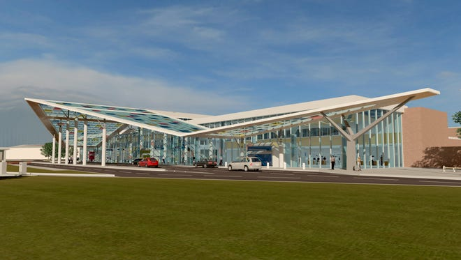 """The Lafayette Airport Commission unanimously chose """"Journey"""" for its $90 million airport terminal project."""