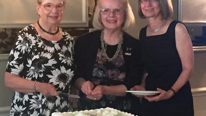 Gala Luncheon Committee members Lorraine Heffernan, Mary Boggia and Heddi Hoffman at the 90th anniversary celebration.