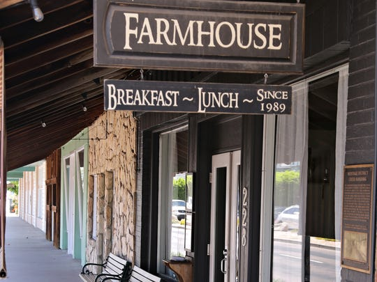 The Farmhouse Restaurant | The Farmhouse Restaurant has been a popular local spot since it opened in 1989. Started by a mother-daughter team, it specializes in fresh, homemade-style breakfast and lunch dishes, as well as sweets like blackberry cobbler and a Cake of the Day.