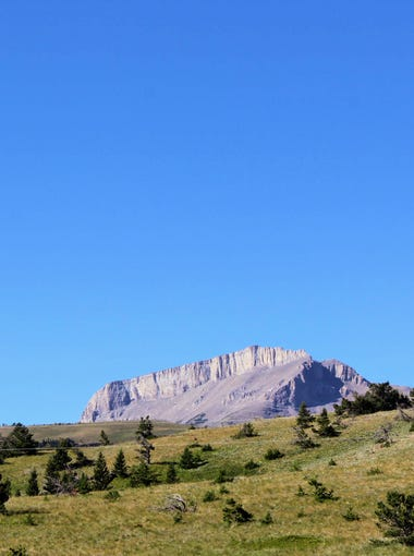 Ear Mountain is one of the most recognizable peaks along the Rocky Mountain front. Ear Mountain was used by the Blackfeet tribe as a site for vision quests.