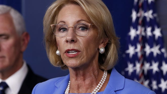Education Secretary Betsy DeVos is pushing ahead with a policy that will steer tens of millions of dollars in federal coronavirus relief to private primary schools and secondary schools across the nation.