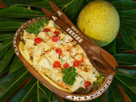 Breadfruit salad.