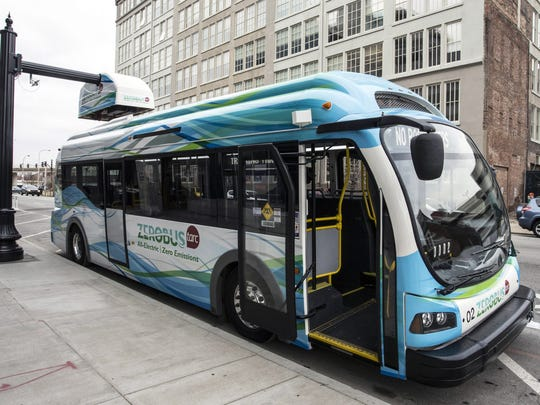 The all-electric TARC ZeroBus has begun to replace trolleys on downtown routes. The buses, which charge at stations along their route, feature clean and quiet operation.