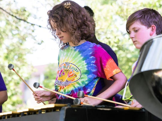The Louisville Leopard Percussionists performed on day one of Forecastle. 7/13/18