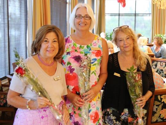 July birthday girls, from left, Laura Geberth, Nancy