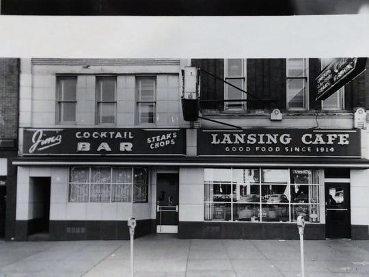 Jim's Lansing Cafe on East Michigan Avenue, circa 1955.