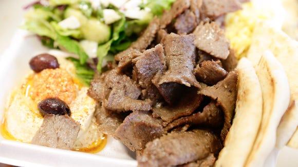 Beef gyro at Zorba's on Pinhook.