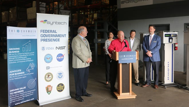 Syntech Systems and TeligentEMS were recognized Thursday in the #GrowTLH Initiative by the Tallahassee Chamber of Commerce.